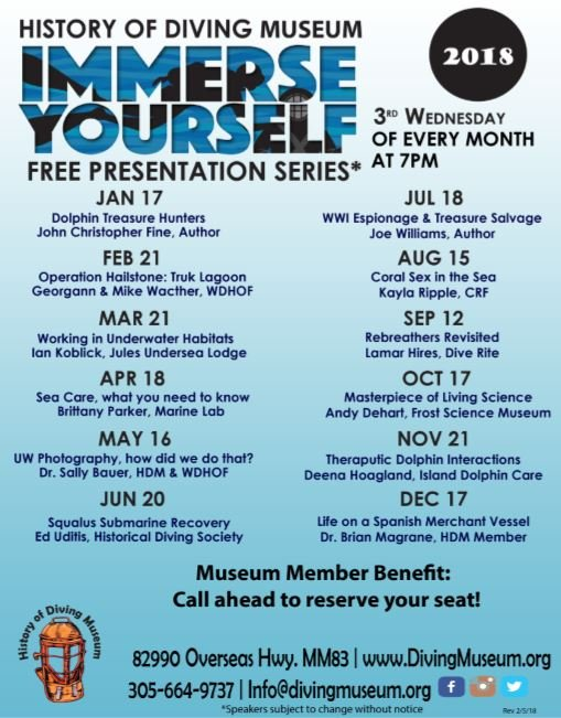 Image for History of Diving Museum presents: Immerse Yourself Free Speaker Series