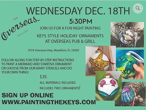 Image for Paint Night Class: Keys Style Holiday Ornaments
