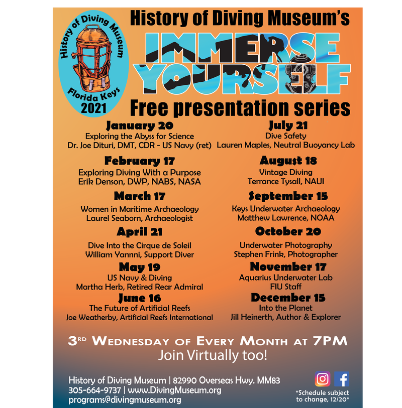 Image for History of Diving Museum's Immerse Yourself! Lecture Series