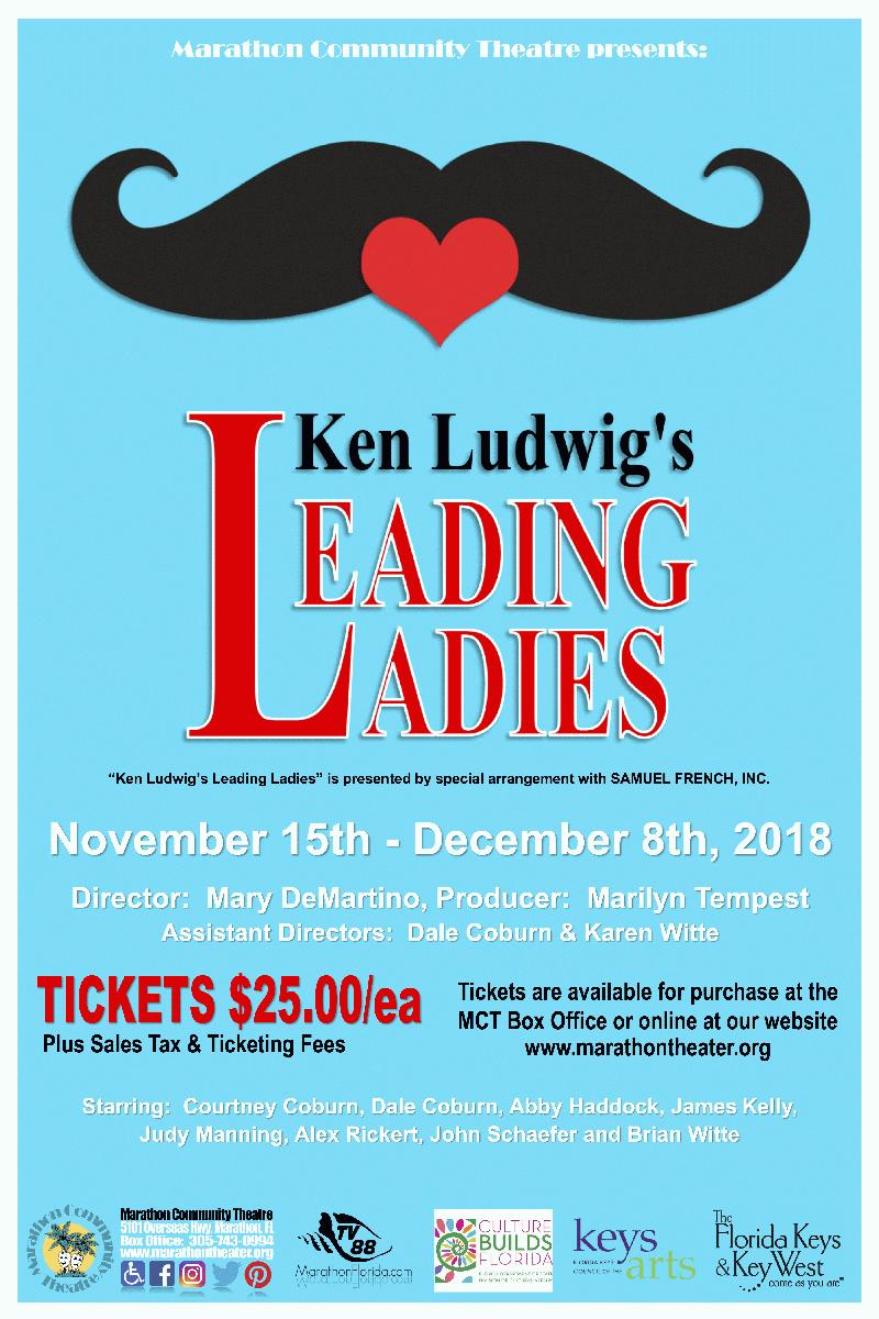 Image for Marathon Community Theater presents: Ken Ludwig's Leading Ladies