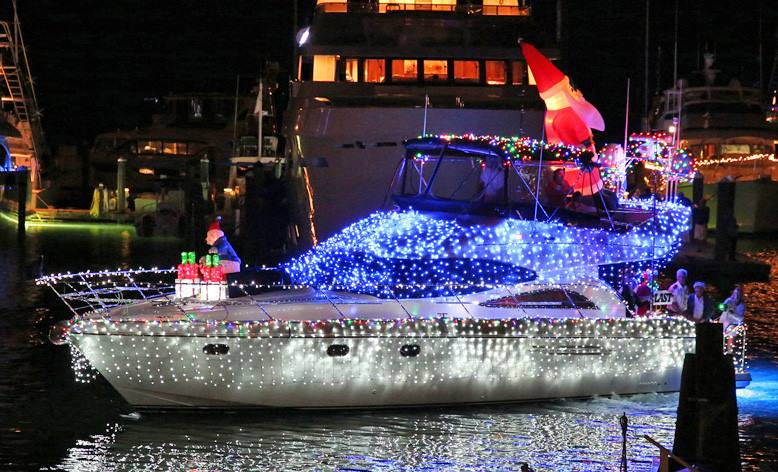 Image for 28th Annual Schooner Wharf Bar Annual Lighted Boat Parade