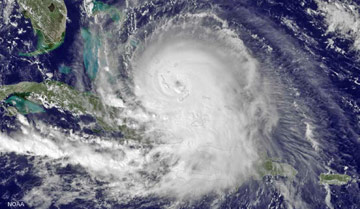 National Hurricane Center satellite image of Hurricane Joaquin