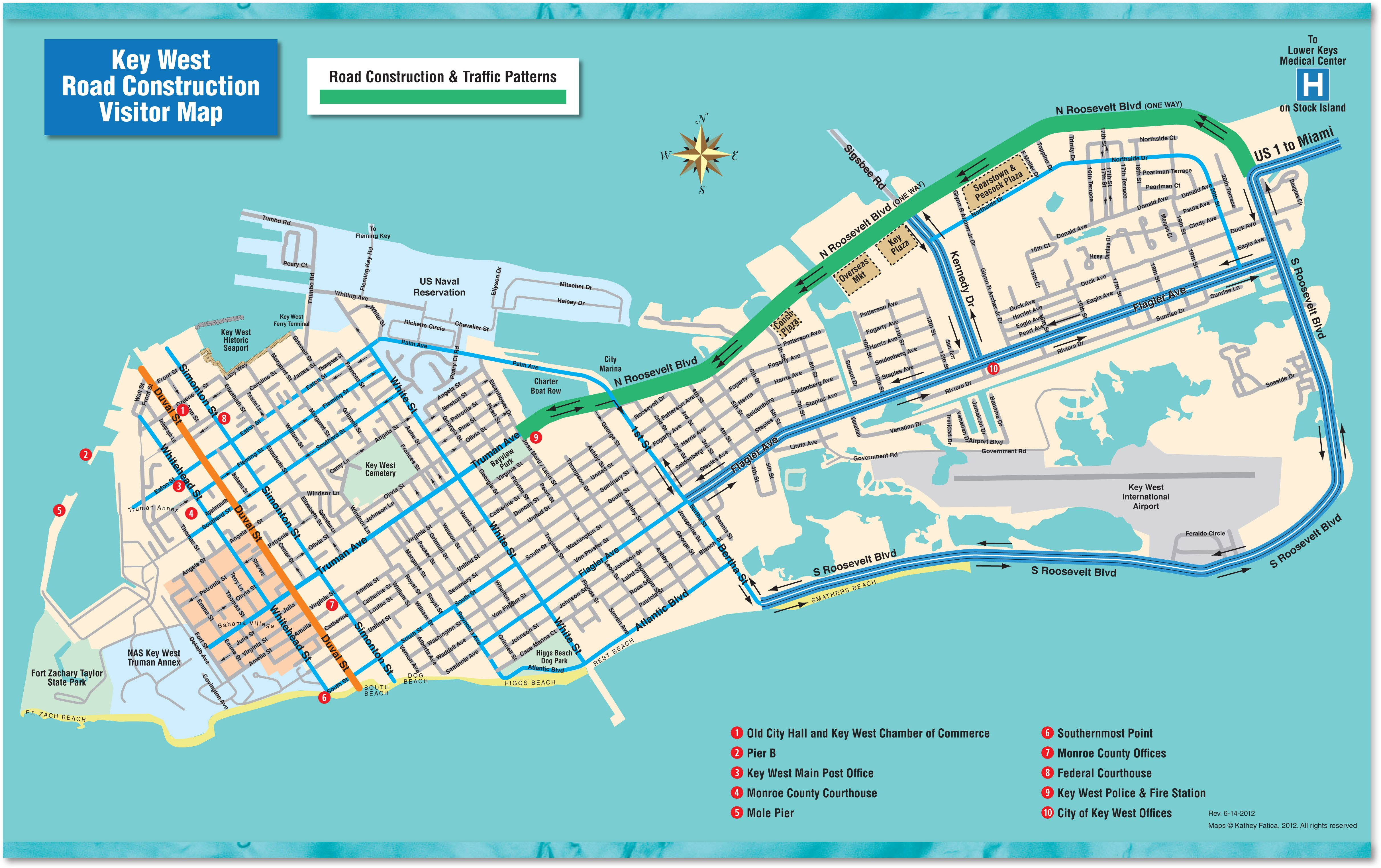 It's just an image of Hilaire Printable Map of Key West