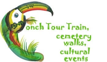 Conch Tour Train, cemetery walks, cultural events