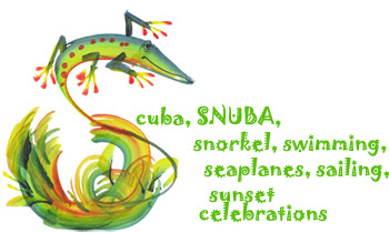 Scuba, SNUBA, snorkel, swimming, seaplanes, sailing, sunset celebrations