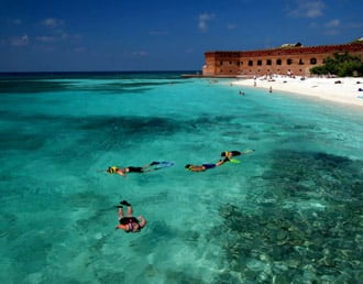 Snorkelers at Fort Jefferson