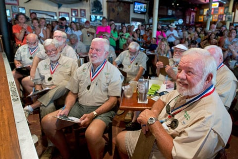 Former winners of the Hemingway Look-Alike Contest