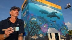 Photo of artist Wyland