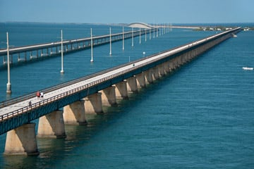 The iconic Seven Mile Bridge links Marathon with the Lower Keys