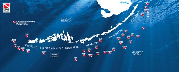 Florida Keys Map.Become A Florida Keys Key West Reef Explorer