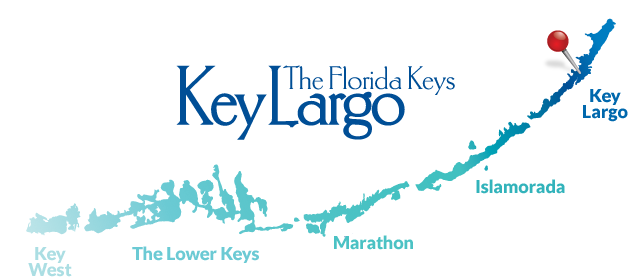 Key Largo on the map