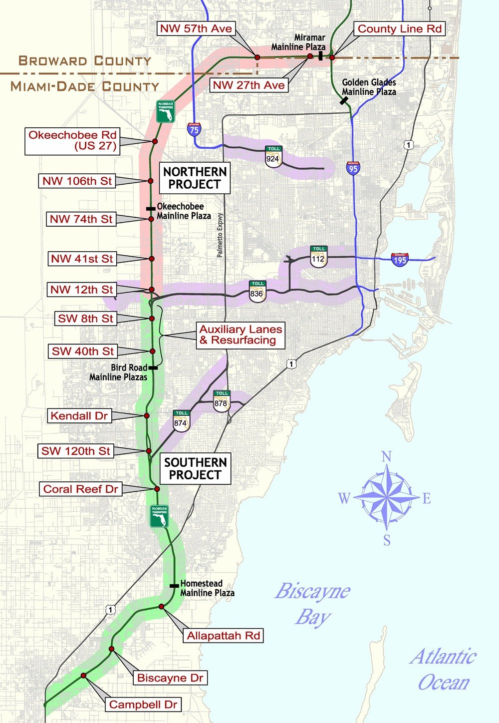 Map Of Florida Turnpike Service Plazas.Florida Keys Key West Travel Information