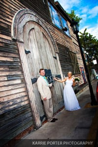 Bride and groom at Shipwreck Museum in Key West