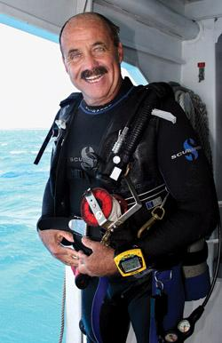 Captain Spencer Slate has become a legend in the Florida Keys and a well-known celebrity in both diving and non-diving circles. (Photo by Frazier Nevins)