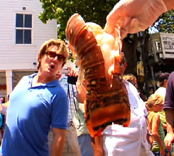 Keys fishermen harvest lobsters -- large enough to startle this attendee at a recent Lobsterfest celebration.