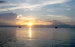 When the day's exploring is over, nothing beats a Key Largo sunset over the water.