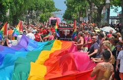 rainbow flag Key West Pride parade