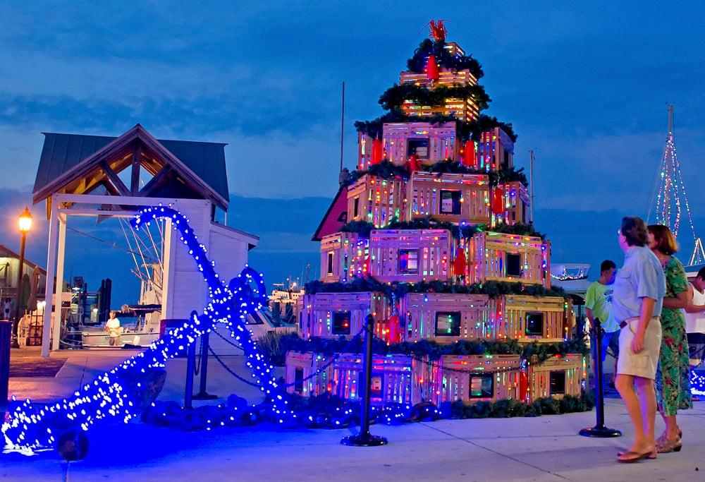 Christmas In Florida Keys.Keys Voices Kv Lobster Trap Christmas Tree Keys Voices