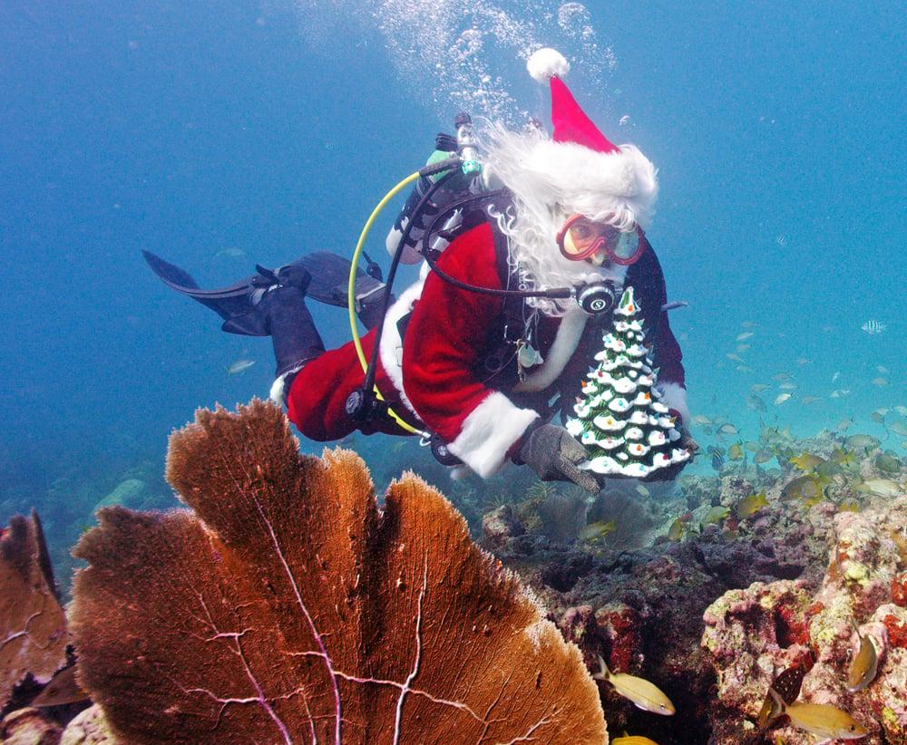 Underwater Santa Claus Florida Keys
