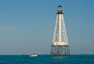 The area around Alligator Reef Lighthouse, about five miles to the south of Islamorada, is a popular snorkeling and diving location. (Photo by Andy Newman, Florida Keys News Bureau)