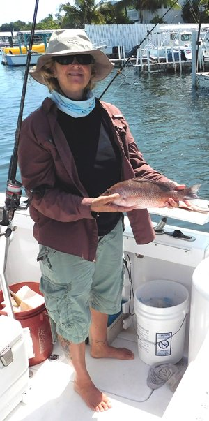 Captain Karen enjoys taking clients light-tackle fishing in Key West waters.