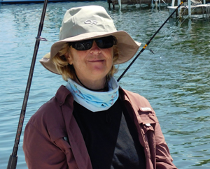 Captain Karen Luknis offers clients on-the-water comfort and saltwater expertise on her Venus Charters excursions.