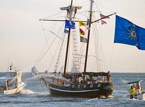 Key West tall ship battle