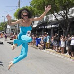 Drag Queen leaping
