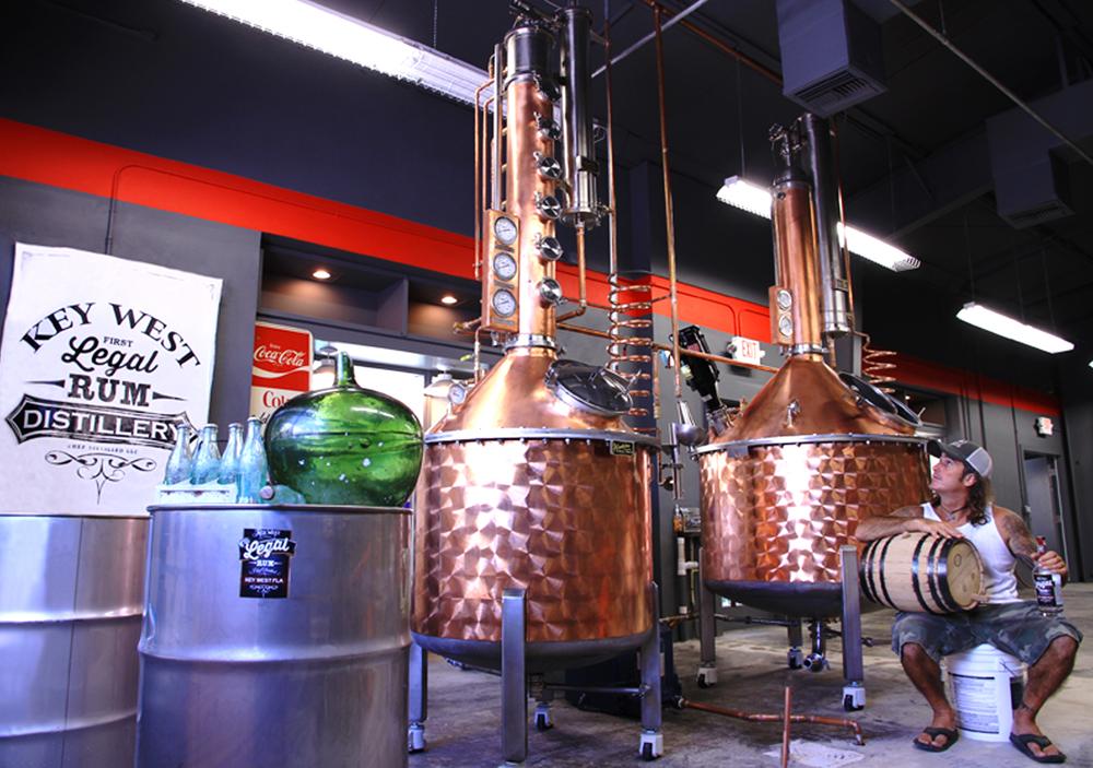 Paul Menta Key West Rum distillery