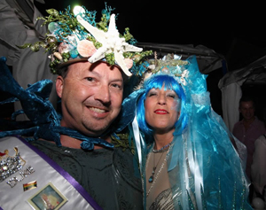 The Key West Business Guild's Headdress Ball is an exuberant evening where entrants show off their over-the-top headgear. (Photo courtesy of the Key West Business Guild)