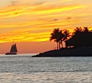 Florida Keys sunset on the water