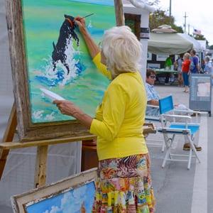 artist painting Islamorada