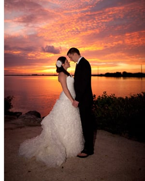 Florida Keys sunset wedding
