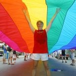 Gilbert Baker Key West rainbow flag