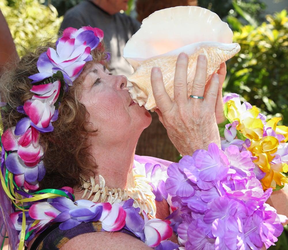 conch shell blower Key West