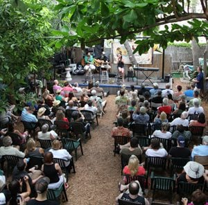 songwriters on stage in Key West