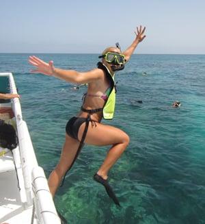 Florida Keys snorkeler