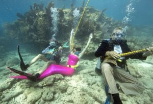 Underwater Music Festival costumed characters