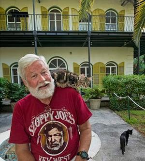 Hemingway House Look-alike with cats