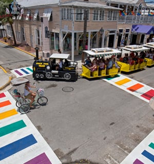Key West rainbow crosswalks