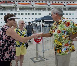 Key West cruise ship after Hurricane Irma