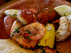 Florida Keys shrimp boil