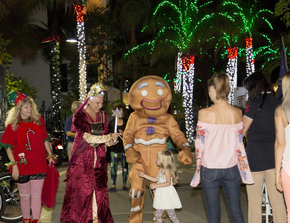Christmas revelers in Key West