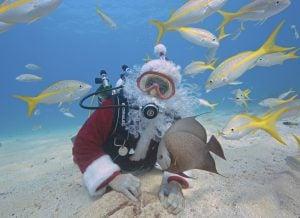 Underwater Santa Florida Keys