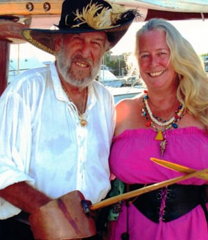 Captain Finbar and wife Key West