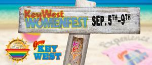 Womenfest banner Key West