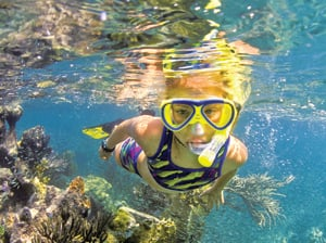 kid snorkeling Florida Keys
