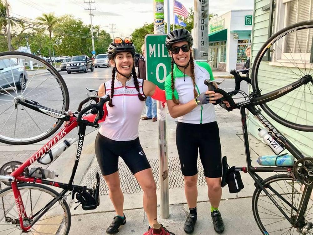 Cyclists Key Largo to Key West