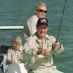 George H.W. Bush fishing in Islamorada