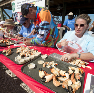 Michelle Bernstein Florida Keys Stone Crab Eating Contest